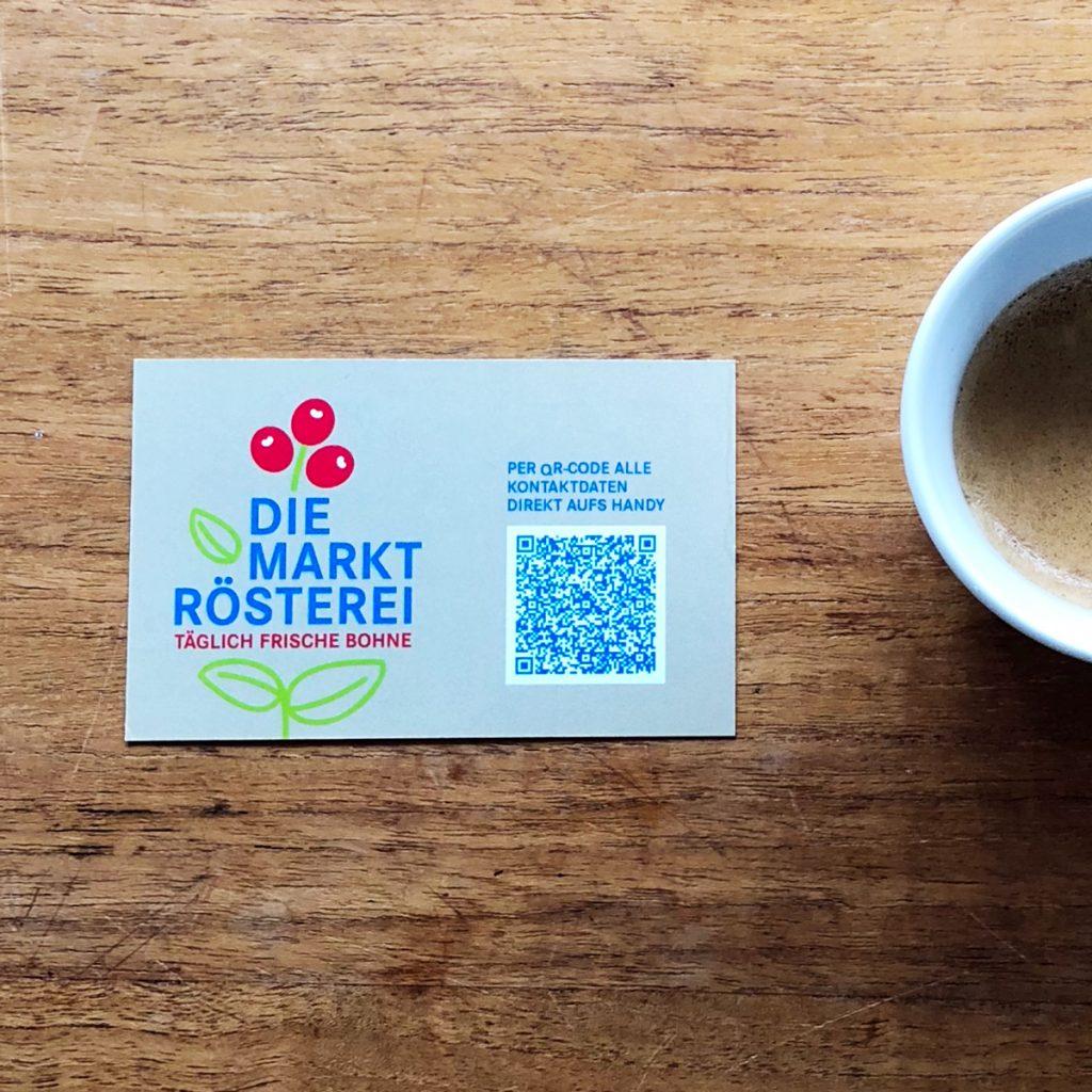 Die Marktrösterei, Logoentwicklung, Corporate Design, Visitenkarte